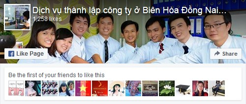 dich vu thanh lap cong ty tai dong nai facebook fanpage